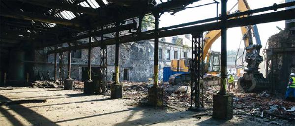 Fonderies de Saulnières : la vidéo des travaux de démolition