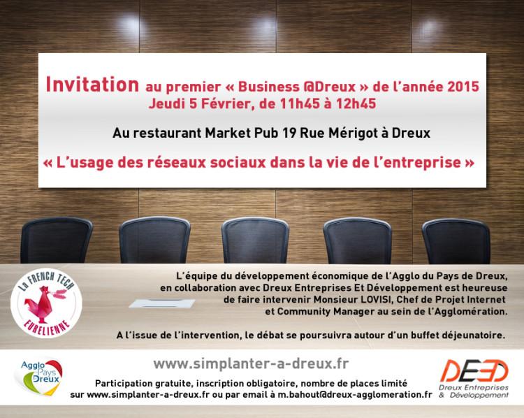 Business @Dreux : L'utilisation des réseaux sociaux dans la vie de l'entreprise