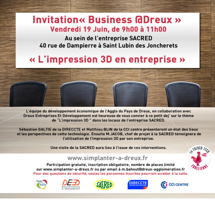 Business @Dreux : L'impression 3D