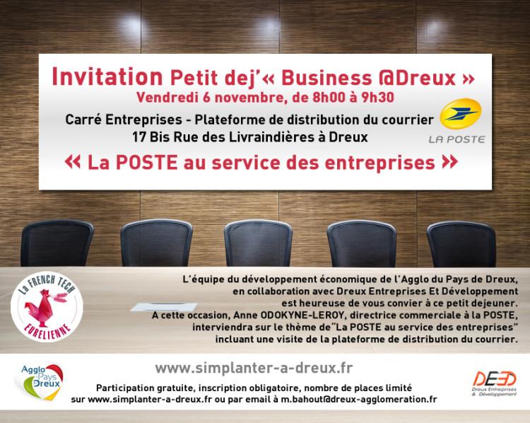 Business @Dreux : La POSTE au service des entreprises