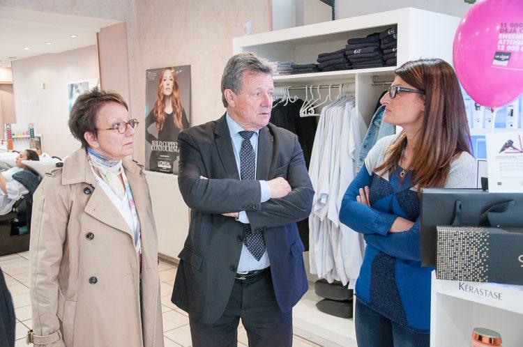 Gérard Hamel à la rencontre des commerçants du centre-ville de Dreux