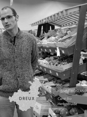 Frédéric Mossland et Juliette Poupart, gérants du magasin Carré Bio et du magazine Herbodruide à Dreux