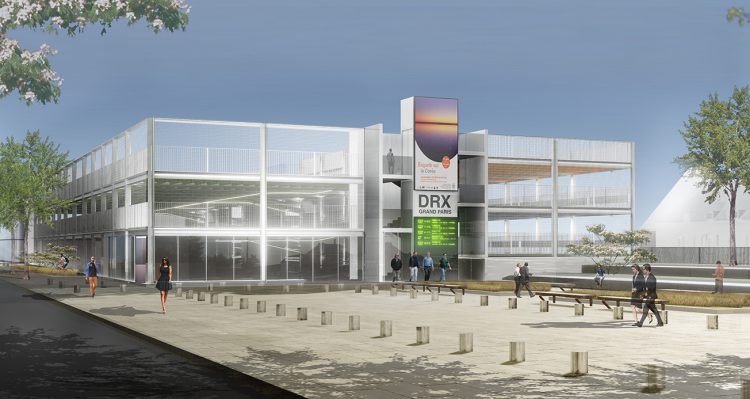 Un parking aérien en connexion directe avec le quartier d'affaires