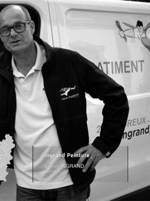 Xavier Ingrand, directeur de la société Ingrand Peinture