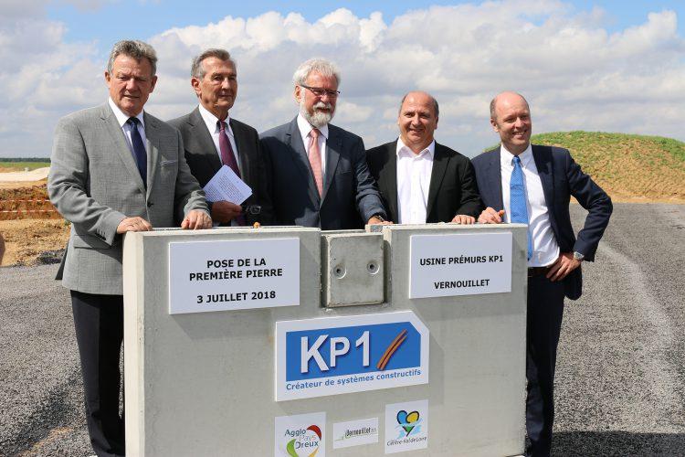 KP1 pose la première pierre de son usine à Vernouillet