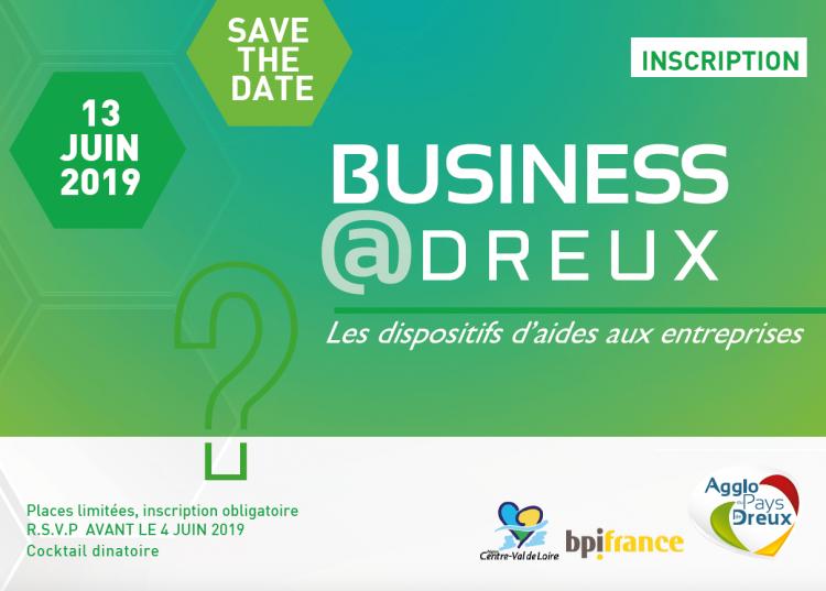 Invitation – Un Business@Dreux dédié aux dispositifs d'aides aux entreprises