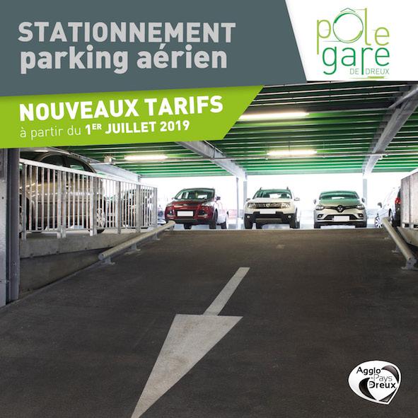 Des tarifs en baisse au parking du Pôle Gare de Dreux