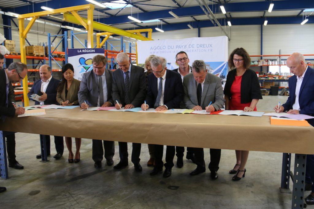 """signature du contrat Territoire d'Industrie """"Pays de Dreux Portes Euréliennes d'Ile-de-France"""""""