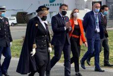 Emmanuel Macron en visite chez Delpharm, sur le territoire de l'Agglo